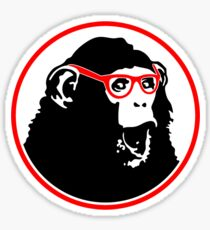 Nerd Ape with Glasses Sticker