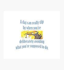 Procrastination according to Calvin & Hobbes Photographic Print