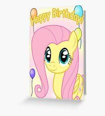 Fluttershy Birthday Card - Postcard My Little Pony Greeting Card