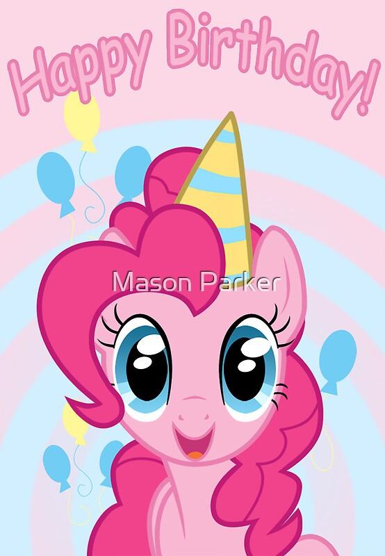 """Pinkie Pie Birthday Card - Postcard My Little Pony"" Greeting Cards by FalakTheWolf | Redbubble"