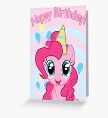 Pinkie Pie Birthday Card - Postcard My Little Pony Greeting Card