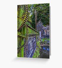 """""""La Fenderie"""" Sluice Gate - Trooz, Belgium Greeting Card"""