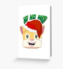 """Minecraft Youtuber Stampy Cat - Santa / Christmas / Winter / Holiday Limited Edition """"Ho Ho Ho!"""" Greeting Card"""