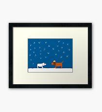 Christmas Snow Scene Framed Print