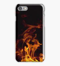 Flames in the dark iPhone Case/Skin