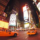 Times square cabs by Mark scott