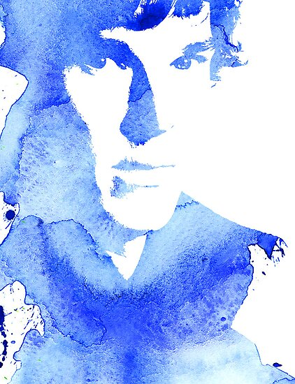 sherlock in blue by Catherine Ostholthoff