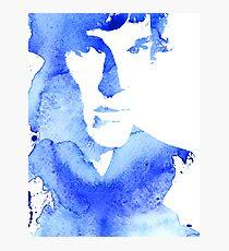 sherlock in blue Photographic Print