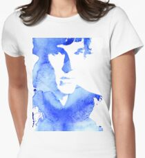sherlock in blue Womens Fitted T-Shirt