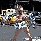 Naked cowboy by Mark Walker