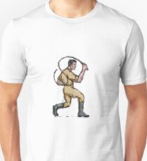 Lion Tamer Bullwhip Isolated Drawing T-Shirt