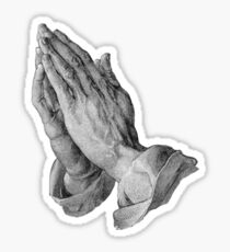 Durer - Hands Praying Sticker