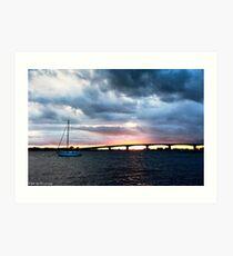 Sailboat at Marina Jacks Art Print