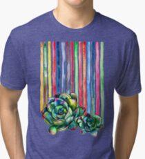 Rainbow Succulents Tri-blend T-Shirt