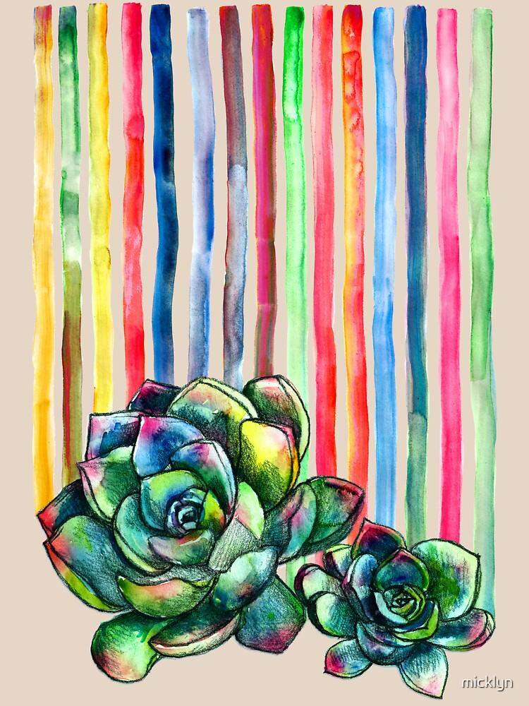 Rainbow Succulents by micklyn