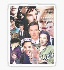 benedict collage Sticker