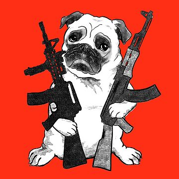 BAD dog – armed pug by JennyHolmlund