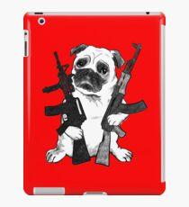 BAD dog – armed pug iPad Case/Skin