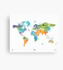 World map nature Canvas Print