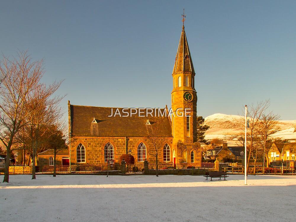 RHYNIE - NOTH PARISH CHURCH WITH SNOW by JASPERIMAGE