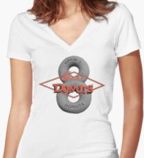 Drew's Donuts 2 Women's Fitted V-Neck T-Shirt