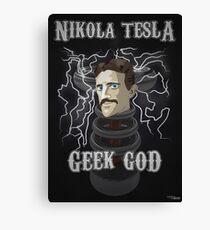 Nikola Tesla: Geek God Canvas Print