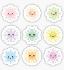 Kawaii snowflakes Sticker