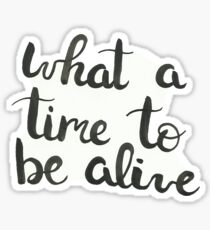 what a time to be alive Sticker
