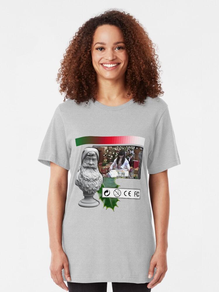Vaporwave Christmas Sweater.A Very Vaporwave 醜い Christmas Sweater Slim Fit T Shirt