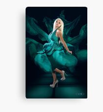 Jordan in her Green Evening Dress Canvas Print