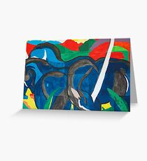 Franz Marc - Blue Horse  Greeting Card