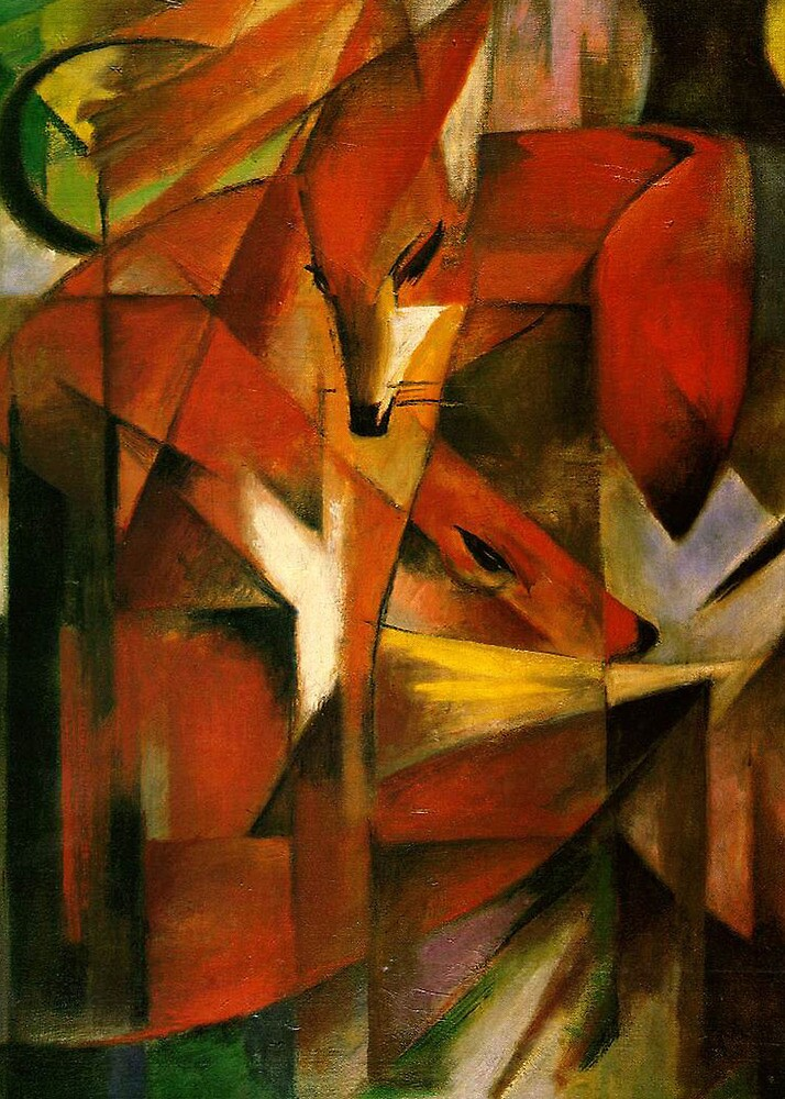 Franz Marc - Foxes by William Martin