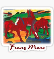 Franz Marc - Red Horses Sticker