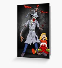 Inspector Zombie (with Penny) Greeting Card