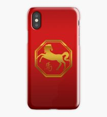 Chinese Zodiac Year of The Horse Symbol iPhone Case