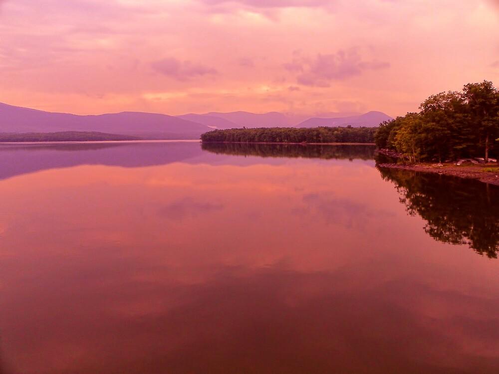 Morning Light on the Ashokan Reservoir by PineSinger