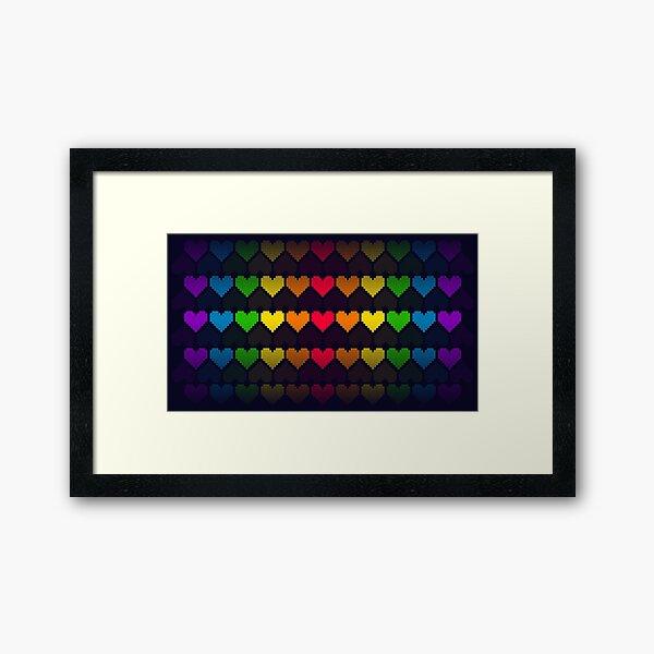 Rainbow lives Framed Art Print