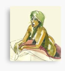 Green Blond Canvas Print