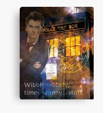 10th Doctor Who David Tennent Canvas Print