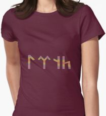 Tengri in Old Turkic Womens Fitted T-Shirt