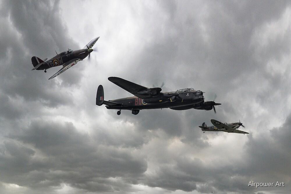 Battle of Britain Memorial Flight by J Biggadike