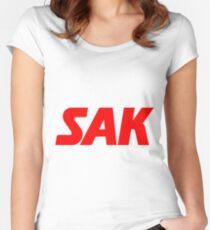 Suomen Ammattiliittojen Keskusjärjestö SAK Women's Fitted Scoop T-Shirt
