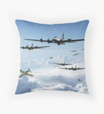 B17 Fortress Europe Throw Pillow