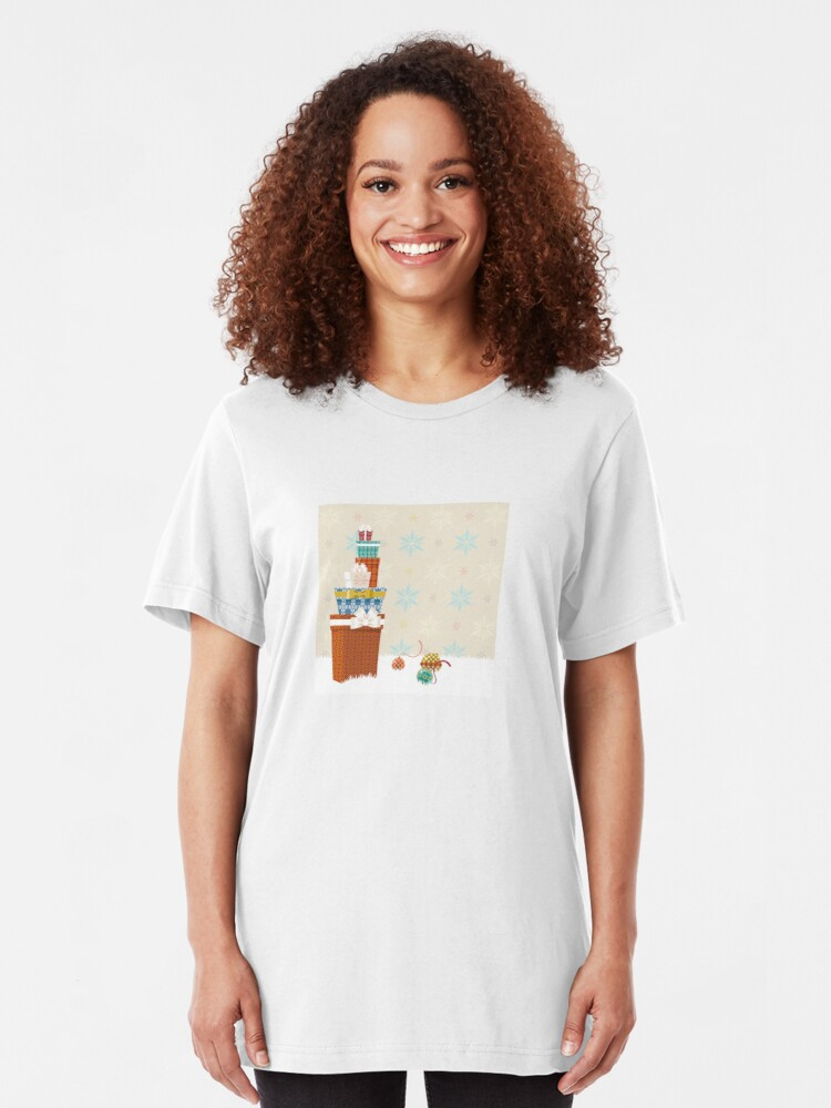 Alternate view of Gifts. Christmas time. Slim Fit T-Shirt
