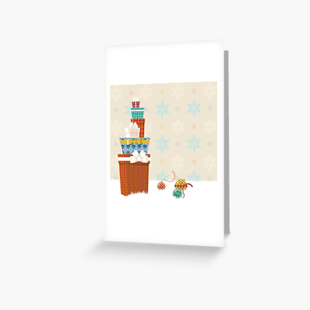 Gifts. Christmas time. Greeting Card