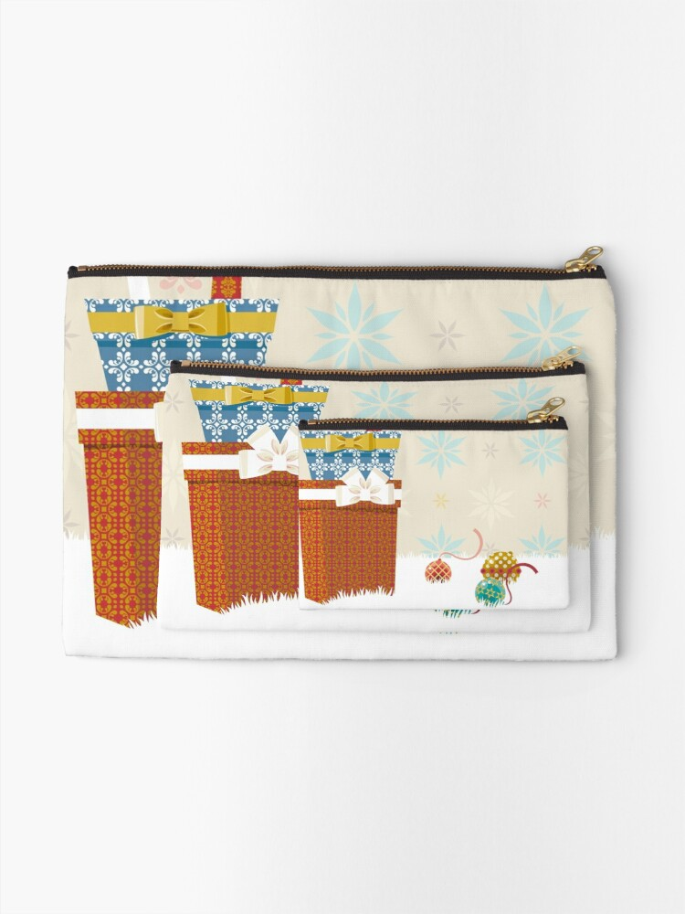 Alternate view of Gifts. Christmas time. Zipper Pouch