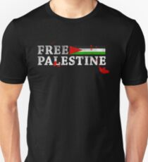 POPULAR DESIGN - FREE PALESTINE GRUNGY BLOOD T SHIRT AND CARDS Unisex T-Shirt
