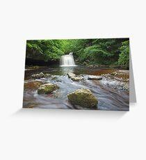 Cauldron Falls at West Burton Greeting Card