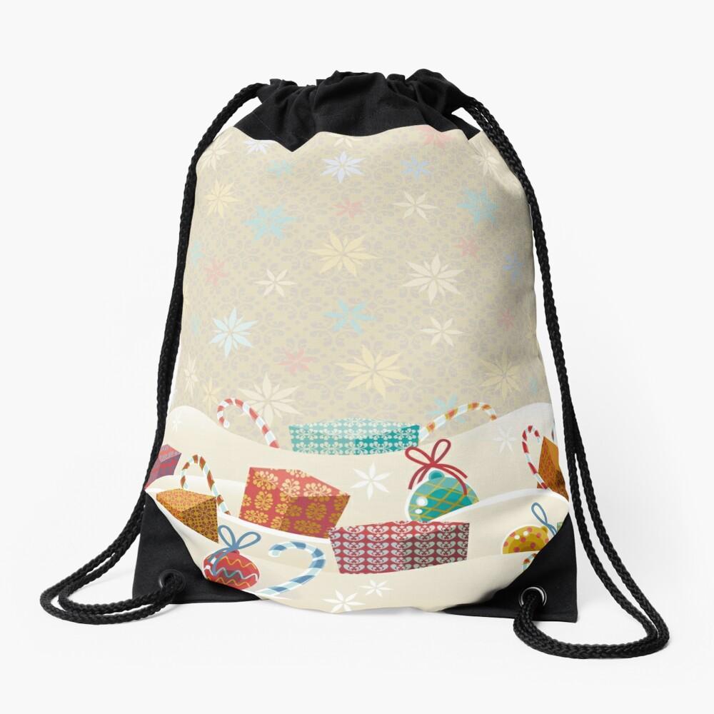 Winter Gifts Drawstring Bag