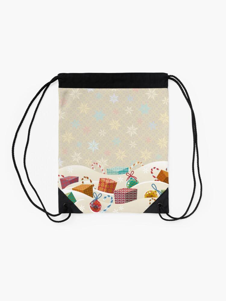 Alternate view of Winter Gifts Drawstring Bag
